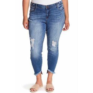 NWT STS Blue Emma Slant Raw Hem Skinny Jeans